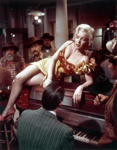 "RIVER OF NO RETURN""{1954}  Western Starring:- Marilyn Monroe, Robert Mitchum & Rory Calhoun"