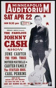 johnny cash poster, photo courtesy of the country music hall of fame and museum