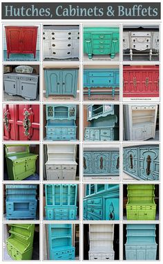Hutch, Buffet and Cabinet Ideas - Facelift Furniture Recycled Wood Furniture, Diy Furniture Redo, Distressed Furniture, Funky Furniture, Refurbished Furniture, Ikea Furniture, Shabby Chic Furniture, Furniture Projects, Unique Furniture
