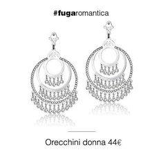 Luca Barra Gioielli  Orecchini in metallo con cristalli bianchi Luca Barra gioielli. #orecchini #gioiellidonna #lucabarra #newcollection #tendenzemoda #pe2015
