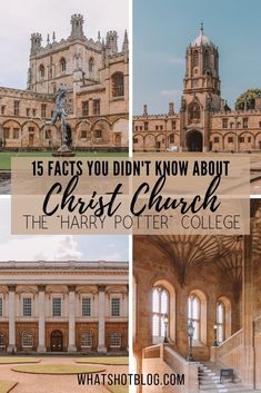 15 Fascinating Facts About Christ Church at Oxford University City Of London, 30 St Mary Axe, Places To Travel, Places To See, Travel Destinations, St Andrews, British Library, Christ Church Oxford, Hogwarts