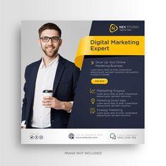 Marketing Flyers, Business Marketing, Online Marketing, Digital Marketing, Social Media Poster, Social Media Banner, Social Media Design, Education Banner, Instagram Marketing Tips