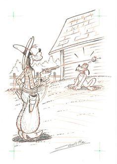 Vendetta, Z. - Original Pencil Drawing - Goofy - Apple Shot - W.B.