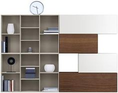 Lugano wall systems - customised TV cabinet wall systems and integrated sound system from BoConcept Furniture Sydney Australia