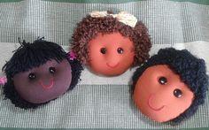 Bonecas de Pano - cabelos 9, 10 e 11