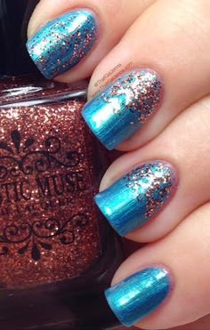 ThatGalJenna: Mystic Muse Nail Lacquer Review and Swatches - Cathedral Collection - Vintage Copper over Lady Katrina