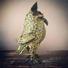 Pietro: textile art owl- fortuny