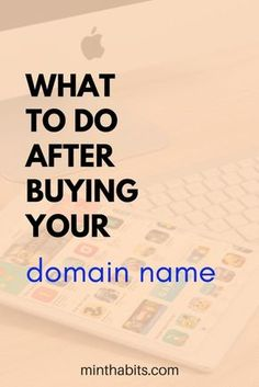 Here's what you need to do to set up your blog after you buy your domain name!