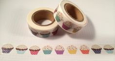 Cupcakes Washi Tape 15mm by PinkSunshineSupplies on Etsy