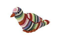 This colorful #crochet pigeon is by Anne-Claire Petit