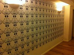Possibly the greatest wallpaper ever, at Teasy Does It, home of the best cuppa in Heaton - perhaps even the world...