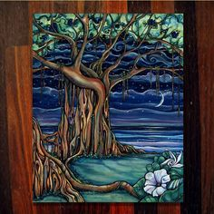 Dreaming Tree (Original) by Colleen Wilcox