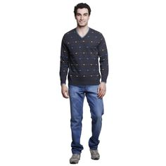 Buy MSG Grey V Neck Sweater Online at cheap prices from Shopkio.com: India`s best online shoping site