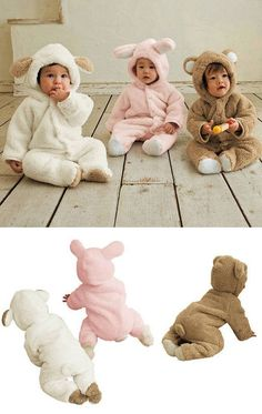 Ultra Soft,Cute and Warm Hooded Animal Sleeper http://www.destination-baby.com