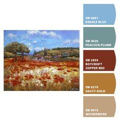 Desert Colors, Teal Colors, Room Colors, House Colors, Paint Colors, Gold Color Palettes, Gold Palette, Color Trends, Color Combos
