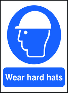 Wear hard hats sign.  Beaverswood - Identification Solutions