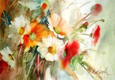 Картинки по запросу Цветы акварелью