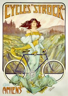 Product Description TITLE: Cycles Strock ARTIST: E. Celos CIRCA: 1897 ORIGIN: France Fine art giclee print on heavy acid free archival paper using 100+ year fade resistant inks. POSTER SIZING: The thr