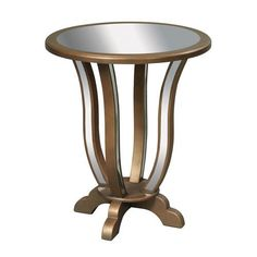 Gold 28-Inch End Table