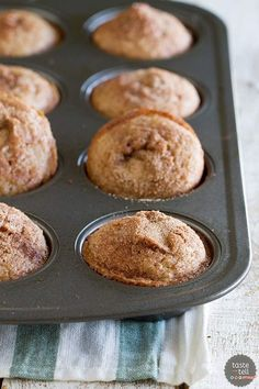 A family favorite, these Cinnamon Muffins are tender and sweet and filled with lots of cinnamon flavor.
