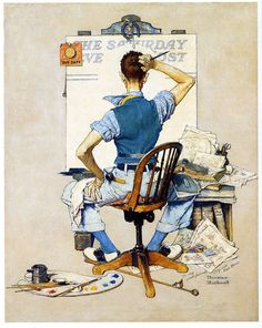 1938 ... Artist Facing Blank Canvas - Norman Rockwell by x-ray delta one, via Flickr