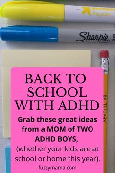 Worried about your adhd kiddo and their school performance? Minimize school problems for your child with these tips from a mom of two adhd boys. These ideas help teach your child the executive functioning skills they need and help you get their year off to a great start. There are lots of accommodations you can make at home to help your child be more independent and less anxious about starting a new school year. Child Behavior Problems, Kids Behavior, School Plan, Back To School, Adhd Help, Add Adhd, Social Emotional Activities, School Hacks, School Ideas