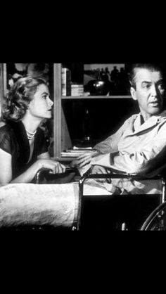 """""""Rear Window"""" by Alfred Hitchcock - scene with Grace Kelly and James Stewart - 1954 Paramount"""