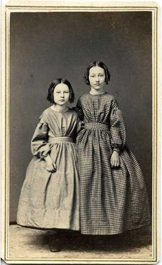 Civil War Era little girls.old photo