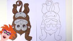 Hoe teken ik een aapje? Ik leer je een aapje tekenen.