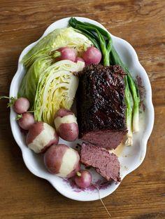 Triple Whiskey Glazed Corned Beef & Cabbage