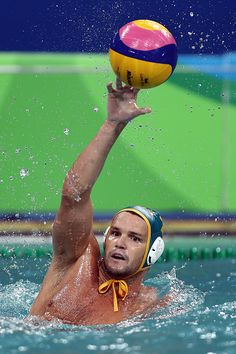 Aaron Younger of Australia in action during the Preliminary Round Group A match between Serbia and Australia on Day 7 of the Rio 2016 Olympic Games. 2016 Pictures, Rio Olympics 2016, Rio 2016, Olympic Games, Continents, Action, Australia, In This Moment, Group