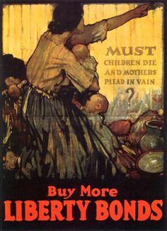 Raleigh, Henry Patrick (b,1880)- Must Children Die- Buy Bonds (Prop- US- WWI)