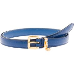 Miu Miu Belt (17.260 RUB) found on Polyvore featuring accessories, belts, cobalt blue, buckle belt and miu miu