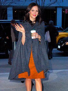 Love Katharine McPhee's (functional) cape!