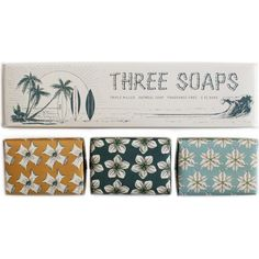 IZOLA Trio of soap surf soaps ($27) ❤ liked on Polyvore featuring beauty products, bath & body products, body cleansers, fillers and izola