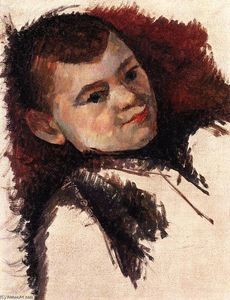 Portrait of Paul Cezanne, the Artist's Son - (Paul Cezanne)