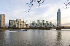 The Mi5 Building, St. George's Tower, Vauxhall Bridge and the River Thames, London, England by Philippe Hugonnard Landscapes Photographic Print - 61 x 41 cm