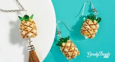 Nothing says summer like some sweet pineapple. Stitched with DiamonDuo, SuperDuo and Pip beads, these pineapples are the ultimate way to showcase how excited we are about summer! Check out our FREE tutorial on how to make these pineapple beads and use them as earring dangles or as the focal point on a tassel necklace. …