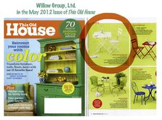 Wholesale Baskets by Willow Group, Ltd. and featured in the May Issue of This Old House. Love them Wholesale Baskets!