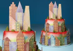 cityscape cake - with excellent diy directions