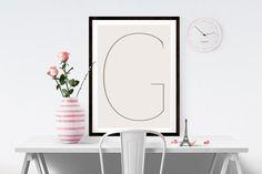 Letter G | ► Letters & Symbolen | Postersinhuis.nl