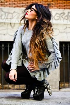 Me encanta este pelo y sus pedazo de mechas californianas¡¡¡