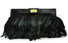 Resultado de imagen para bolso plumas