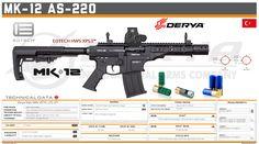 Derya Arms - MK-12 AS-220 Tactical Shotgun, Tactical Gear, Military Weapons, Weapons Guns, Shotguns, Firearms, Future Weapons, Custom Guns, Shooting Range