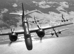 Douglas A-20 Havocs of US Ninth Air Force over France, WWII (USAF photo)
