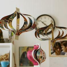 Hanging paper comic book decorations - set of three
