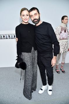 Olivia Palermo Photos Photos - Olivia Palermo and Giambattista Valli attend the Moncler Gamme Rouge show as part of the Paris Fashion Week Womenswear Fall/Winter 2017/2018 on March 7, 2017 in Paris, France. - Moncler Gamme Rouge: Front Row  - Paris Fashion Week Womenswear Fall/Winter 2017/2018
