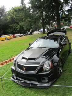 Cadillac CTS-V fastest production sedan in the world. FACT! And I want one!  :-) please!!!!