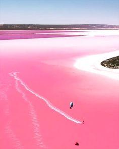 Pink Lake Australia, Australia Travel, South Australia, Lake Hillier Australia, Beautiful Places To Travel, Beautiful Beaches, Lac Rose, Beau Site, Great Barrier Reef