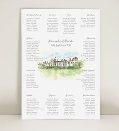 Are you interested in our Wedding Venue Table Plan ? With our Wedding Table Plan Hand-drawn you need look no further. Wedding Vows, Wedding Table, Our Wedding, Wedding Venues, Unique Wedding Stationery, Rustic Gardens, Hand Illustration, Table Plans, Garden Styles